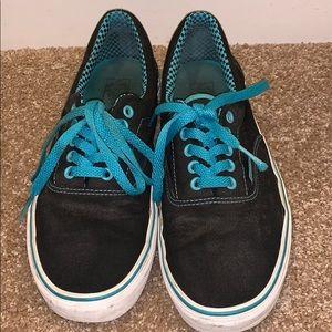 Men's Vans black and blue shoes